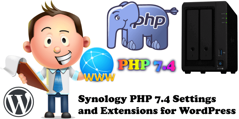 Synology PHP 7.4 Settings and Extensions for WordPress