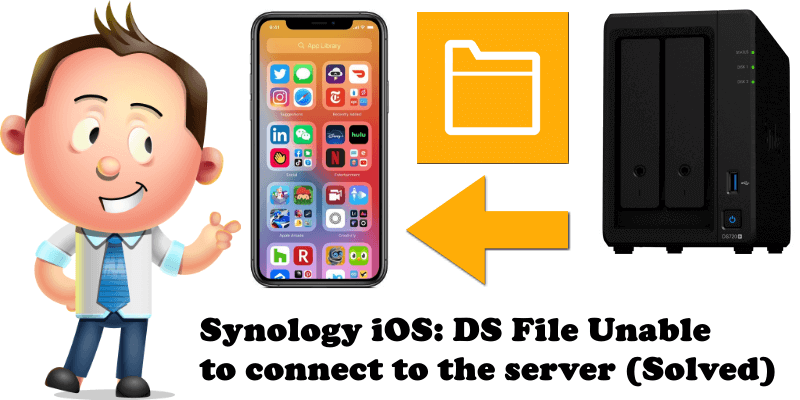 Synology iOS DS File Unable to connect to the server (Solved)