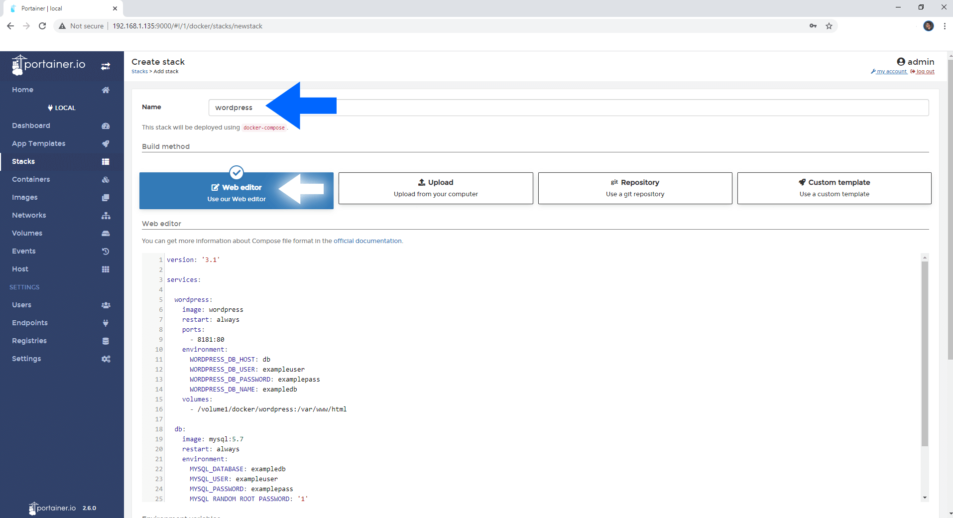 WordPress Synology NAS Set up 3