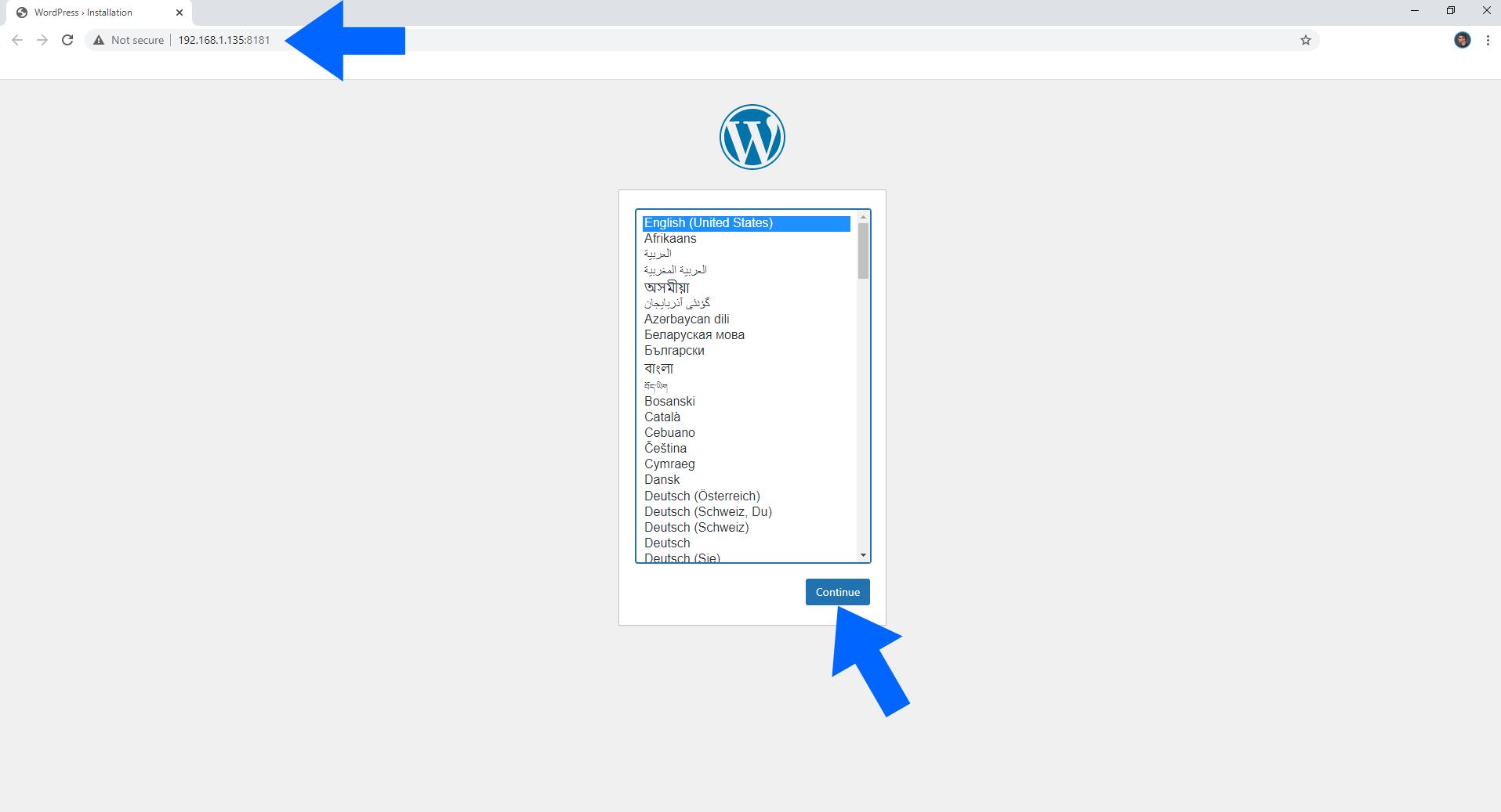 WordPress Synology NAS Set up 6