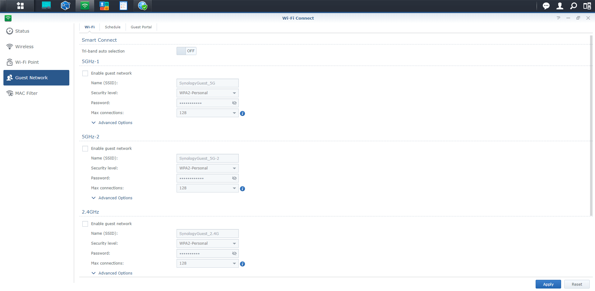 2 Synology RT2600ac disable guest network