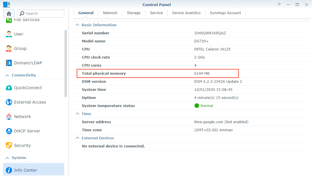 4 Synology Official RAM memory