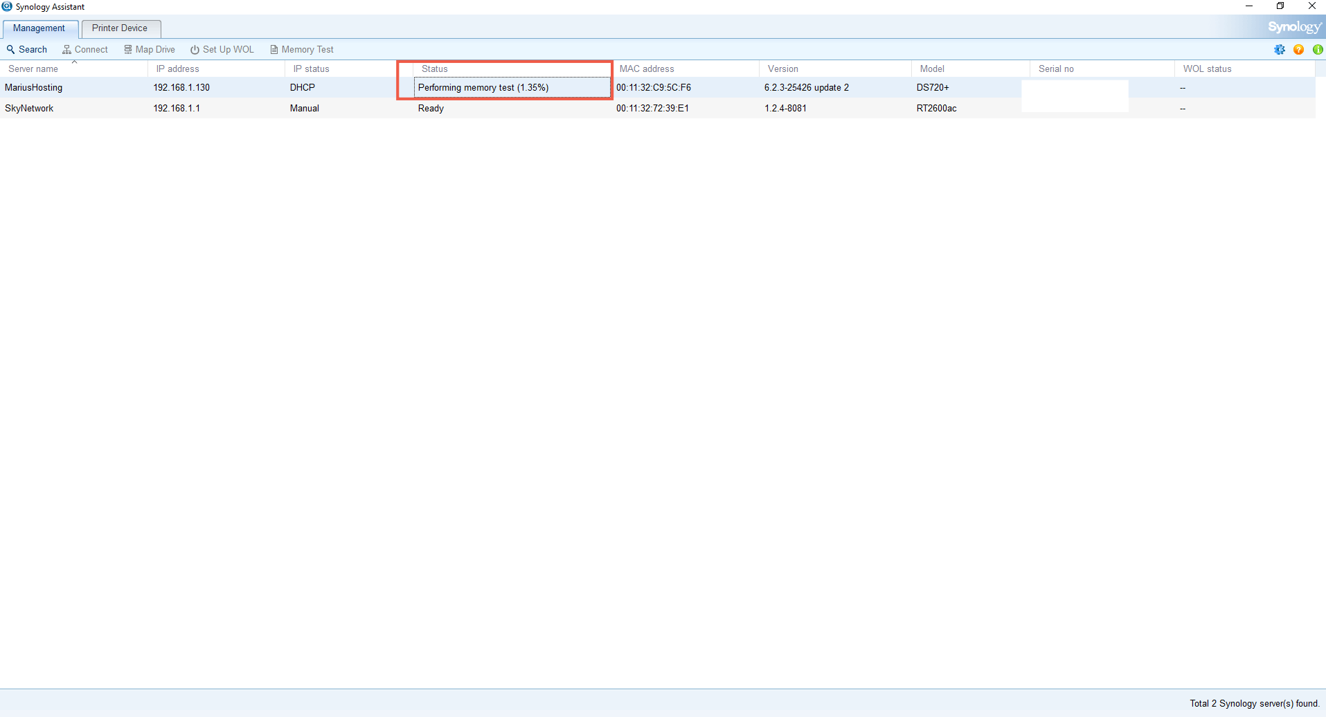 5 Synology Assistant How Long Does The Memory Test Last