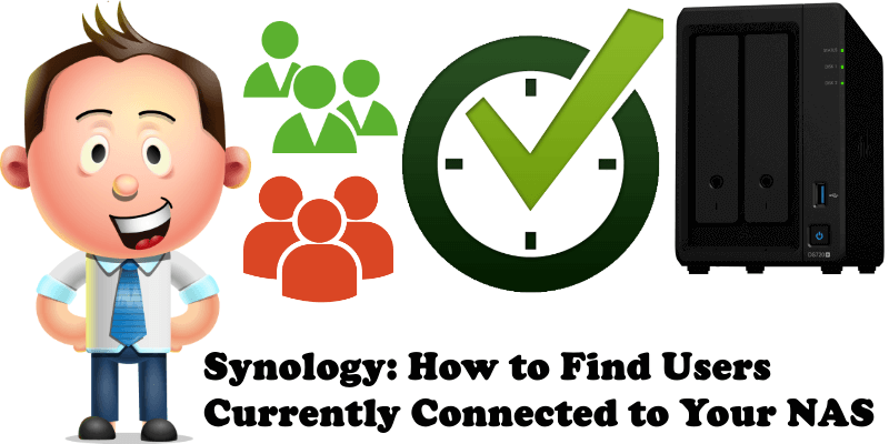 Synology How to Find Users Currently Connected to Your NAS