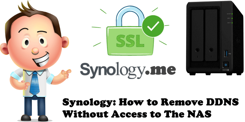 Synology How to Remove DDNS Without Access to The NAS