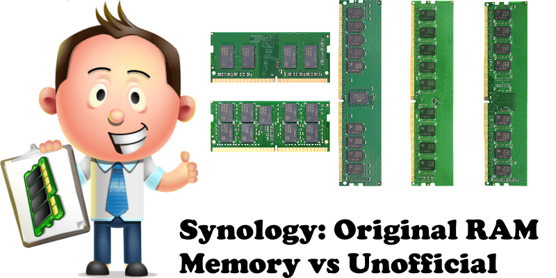 Synology Original RAM Memory vs Unofficial