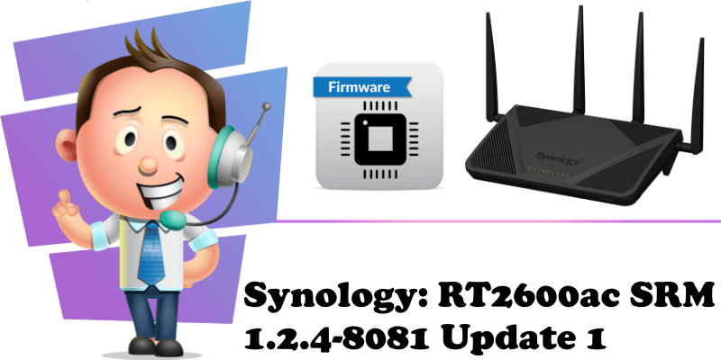 Synology RT2600ac SRM 1.2.4-8081 Update 1 new