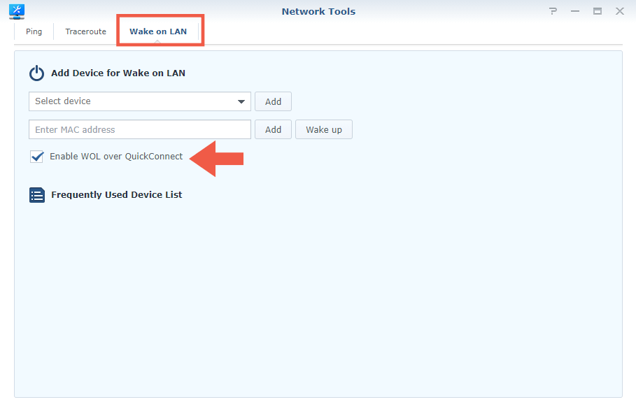 Synology Router Wake on Lan step 2
