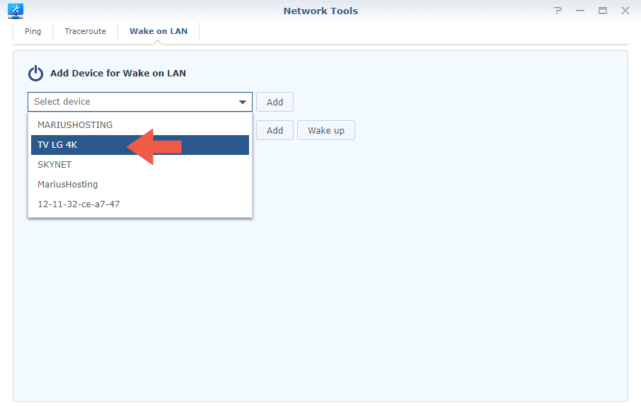 Synology Router Wake on Lan step 3