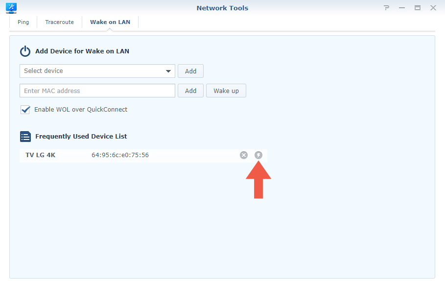 Synology Router Wake on Lan step 5