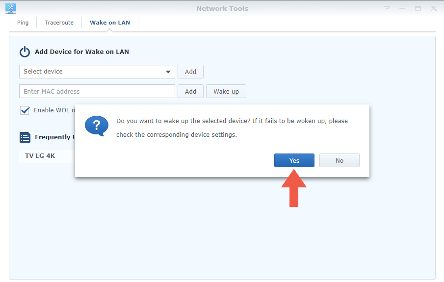 Synology Router Wake on Lan step 6
