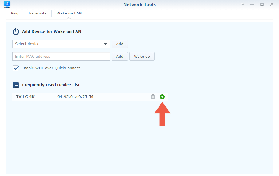 Synology Router Wake on Lan step 7