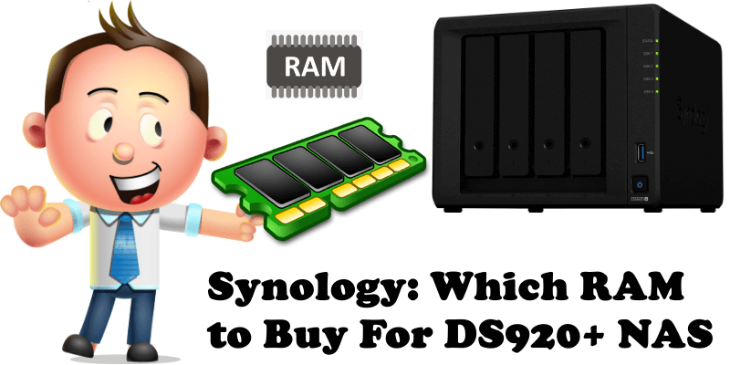 Synology Which RAM to Buy For DS920+ NAS