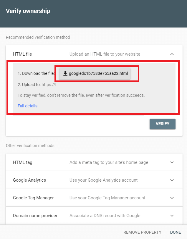 Google search console 3 Synology NAS