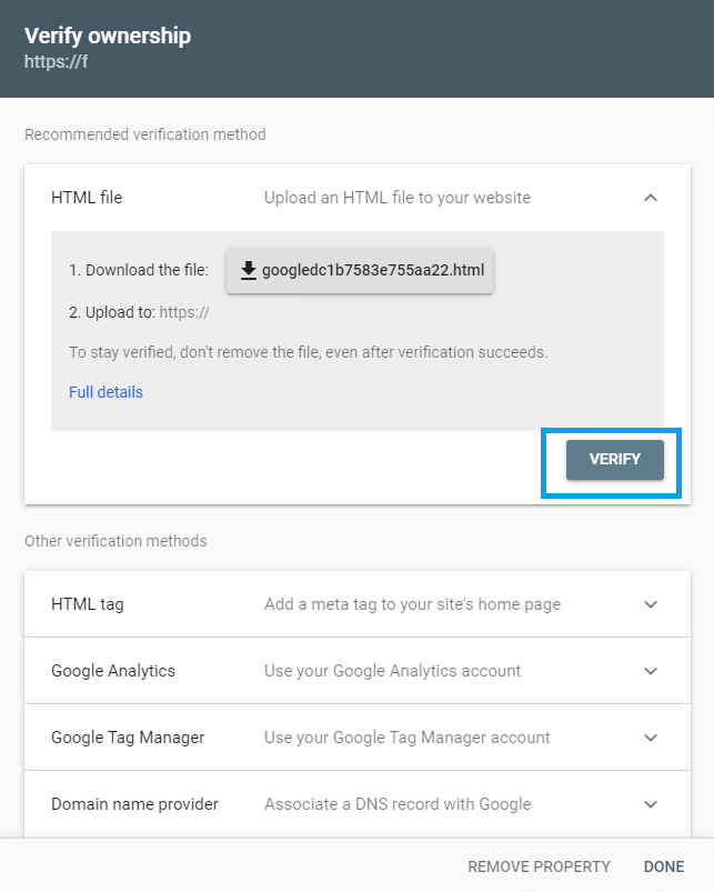 Google search console 5 Synology NAS