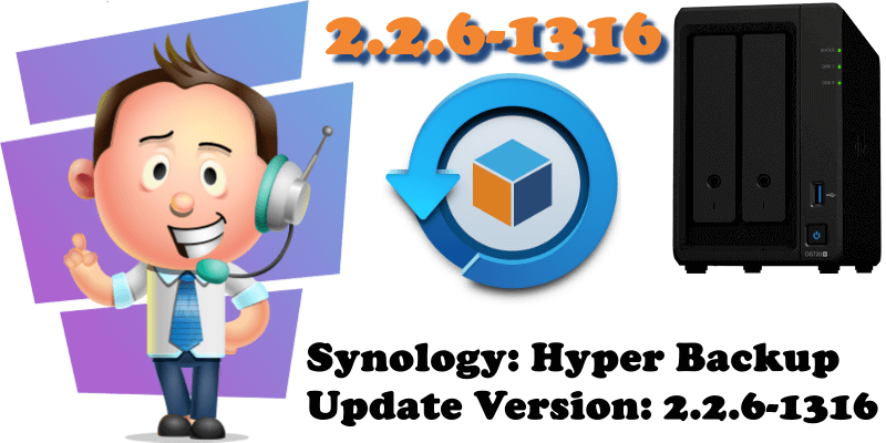 Synology Hyper Backup Update Version 2.2.6-1316