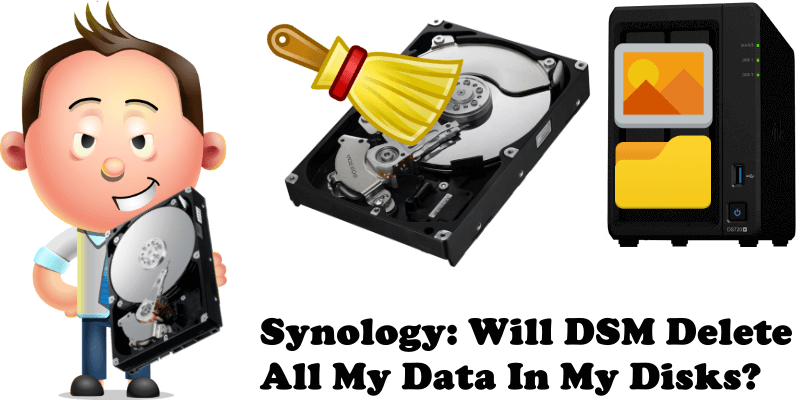 Synology Will DSM Delete All My Data In My Disks