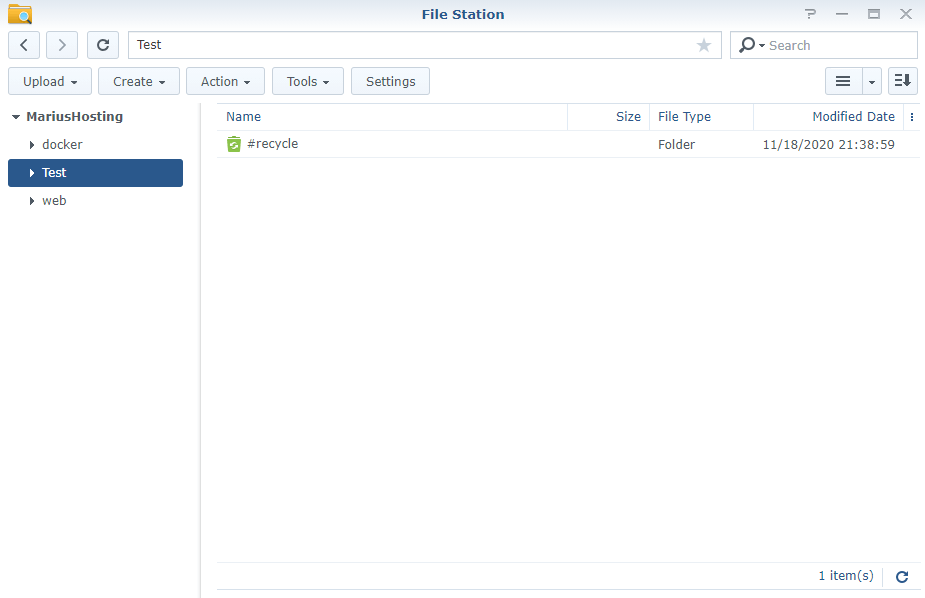 Synology create Shared Folder 8
