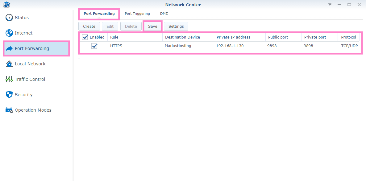 1 Synology change standard ports 5000 and 5001 in DSM 7 router
