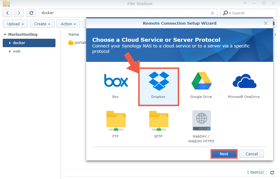 2 Connect Your Synology NAS to A Cloud Service