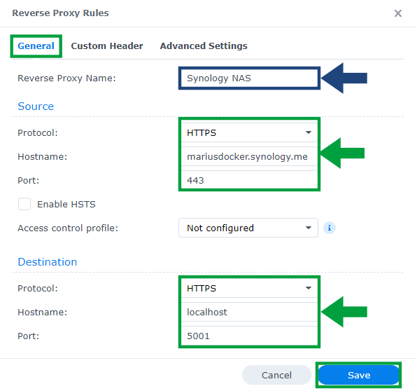 3 DSM 7 synology.me Without port 5001 at the End