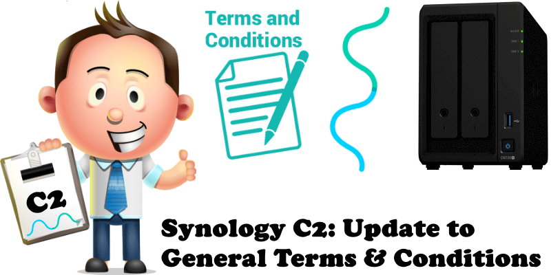 Synology C2 Update to General Terms & Conditions