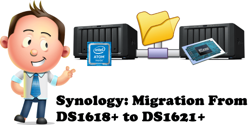 Synology Migration From DS1618+ to DS1621+