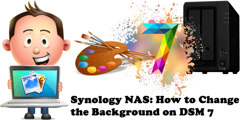 Synology NAS How to Change the Background on DSM 7