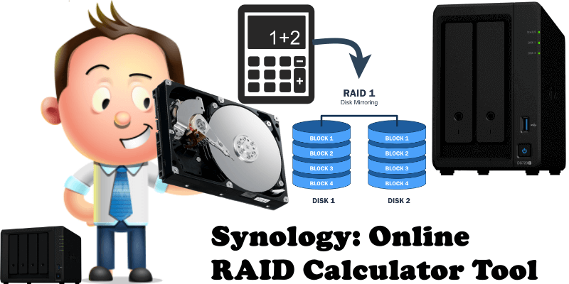 Synology Online RAID Calculator Tool