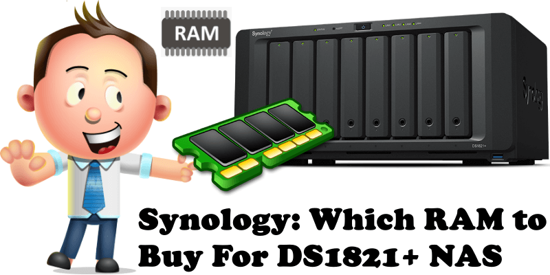 Synology Which RAM to Buy For DS1621+ NAS
