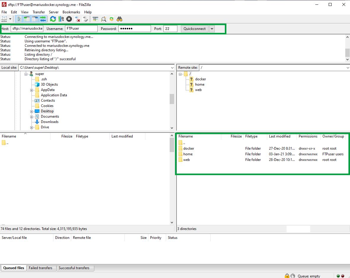 12 Set up FTP on Synology DSM 7