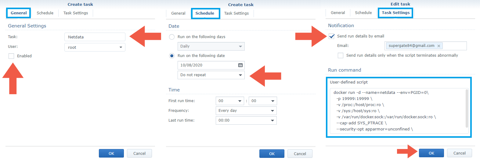3 Install Netdata Docker Synology NAS