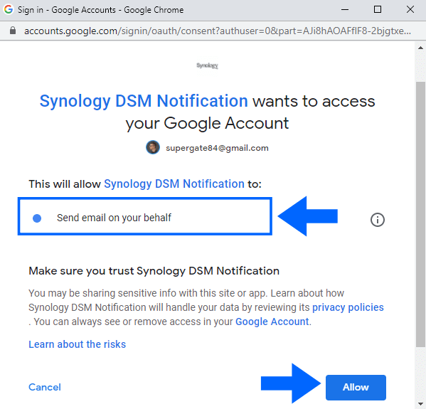 3 Synology NAS enable email notifications