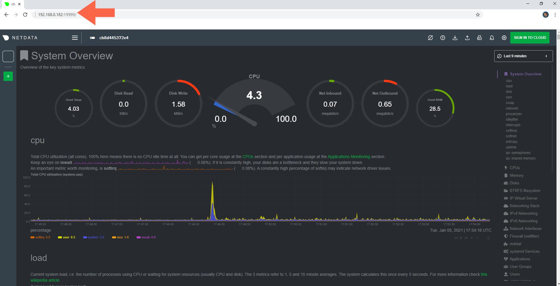 5 Install Netdata Docker Synology NAS