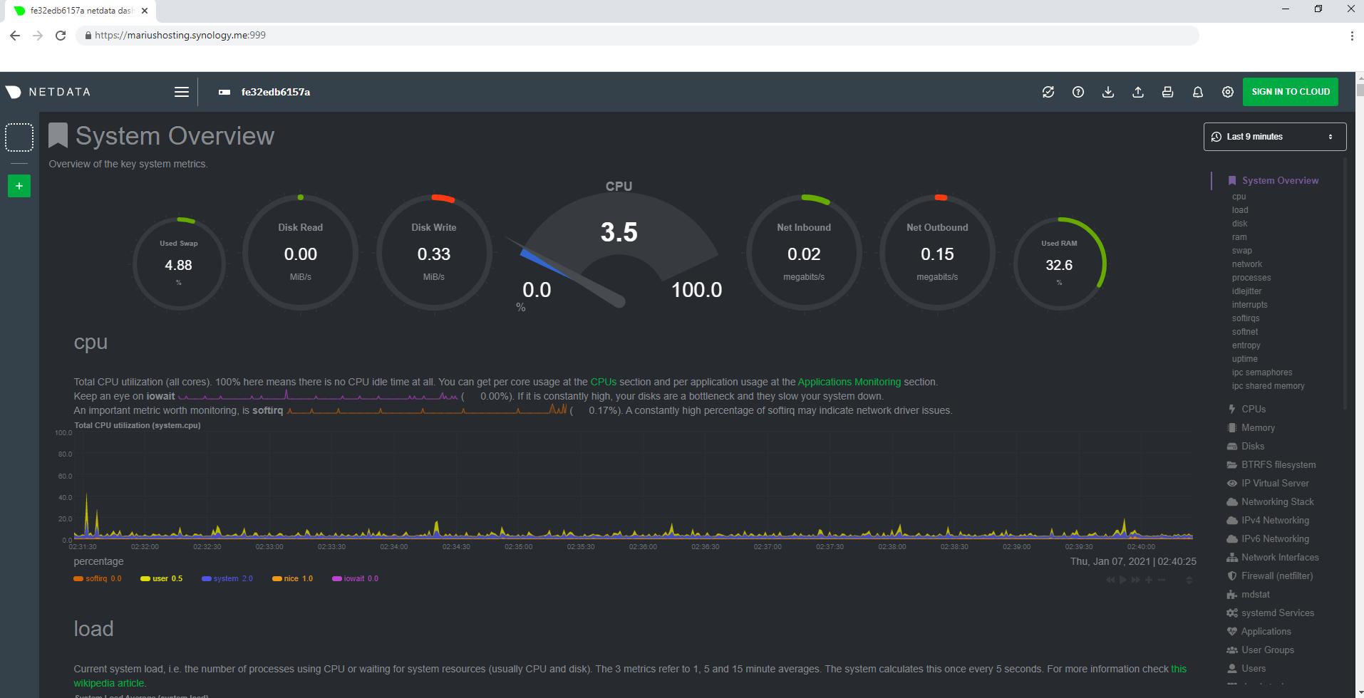 5 Synology Netdata setup HTTPS SSL