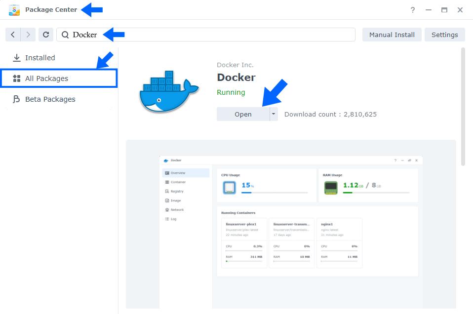 Install Docker Synology DSM 7