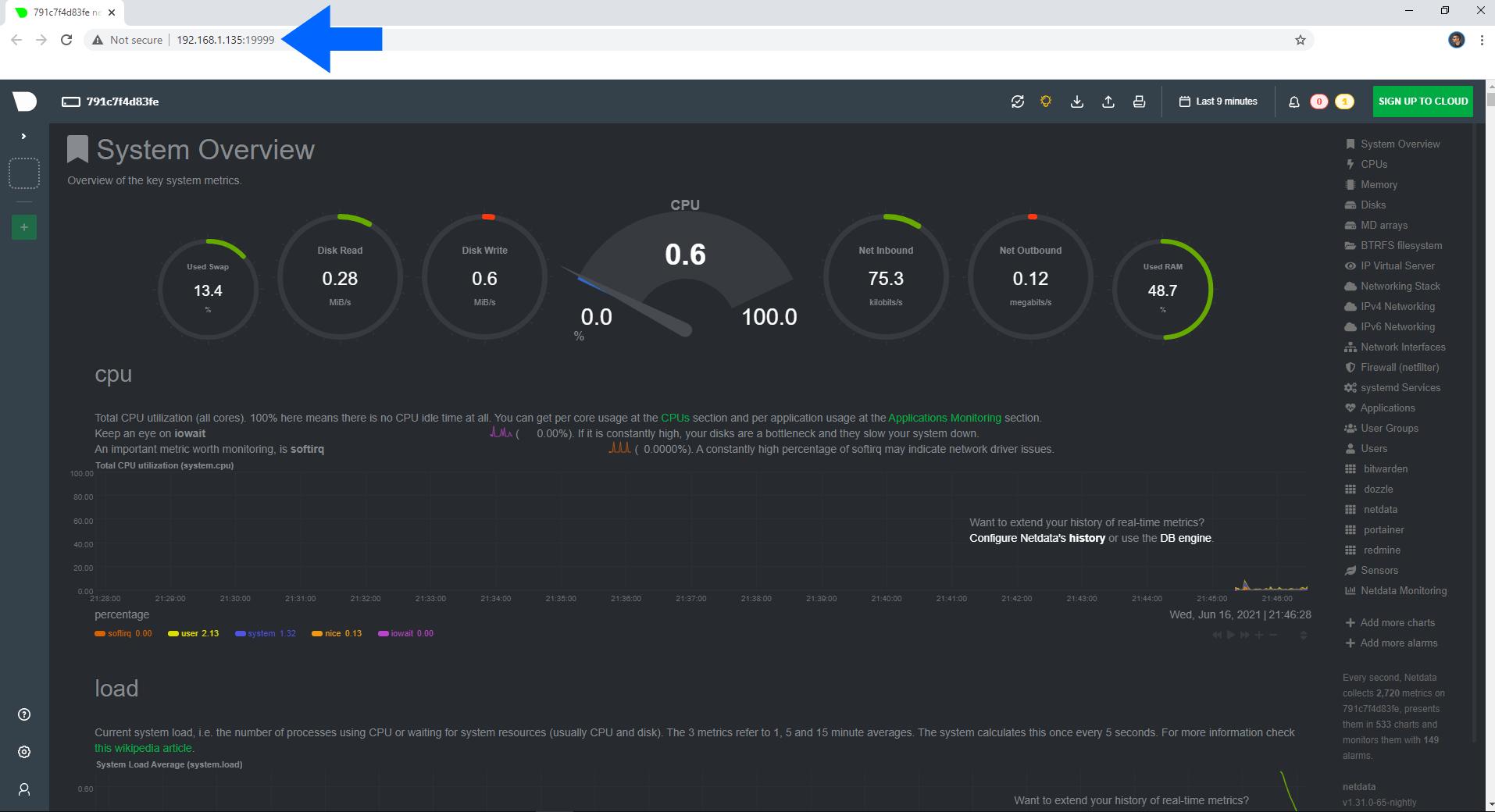 Netdata Synology NAS Set up 5