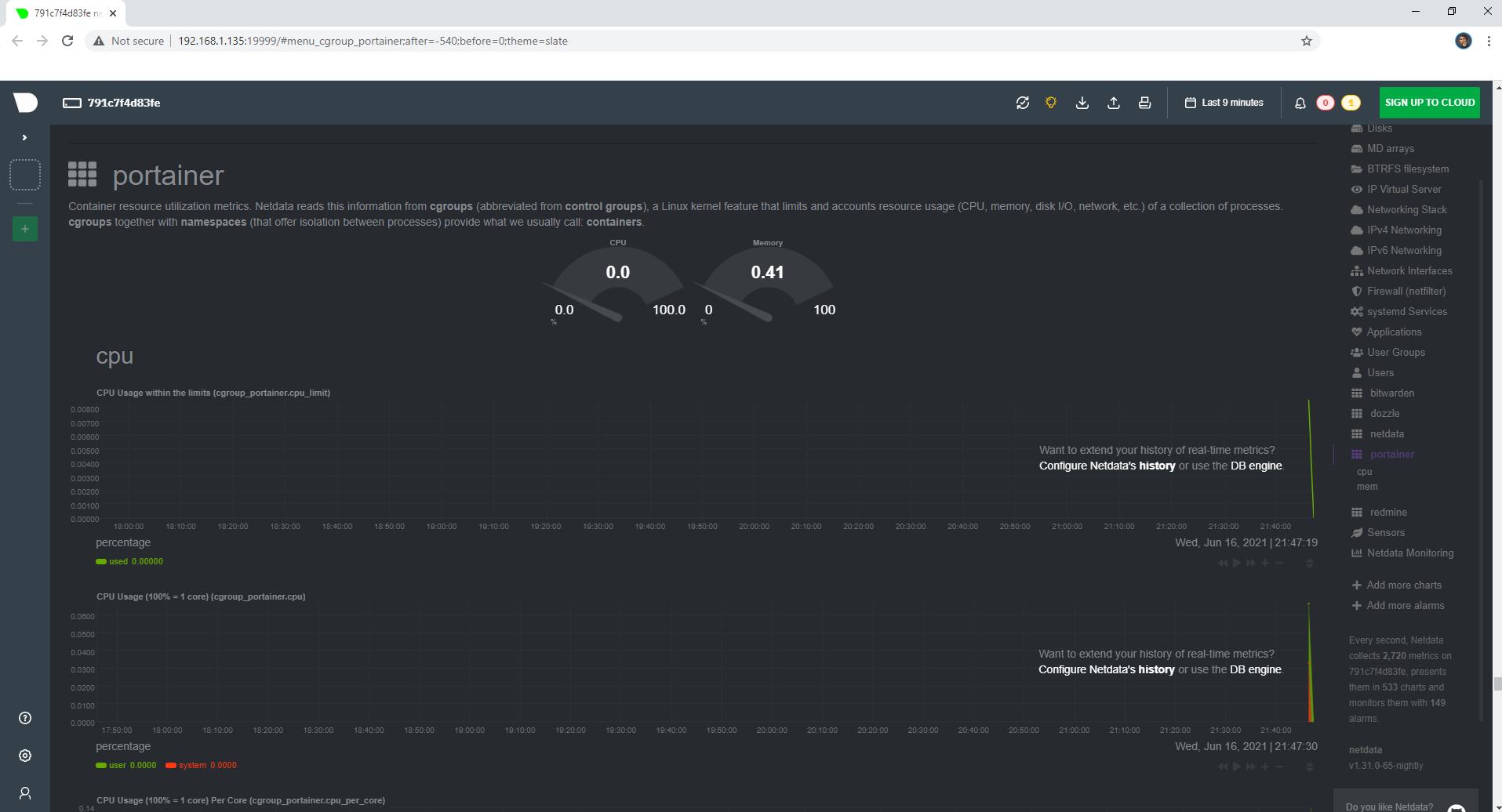 Netdata Synology NAS Set up 6