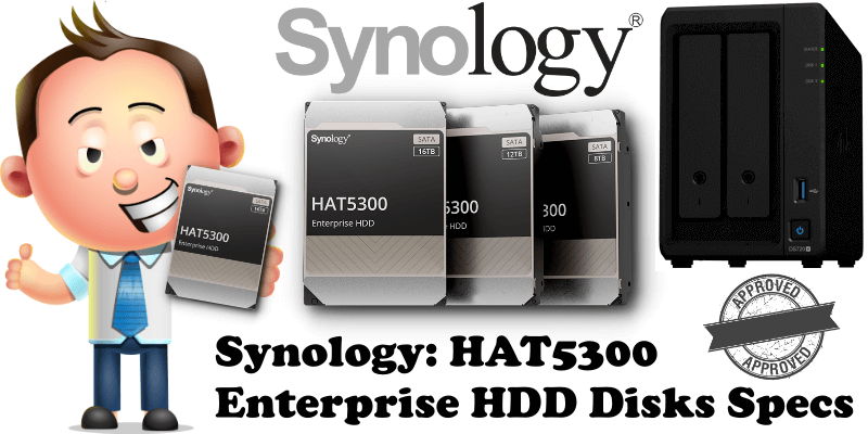 Synology HAT5300 Enterprise HDD Disks Specs