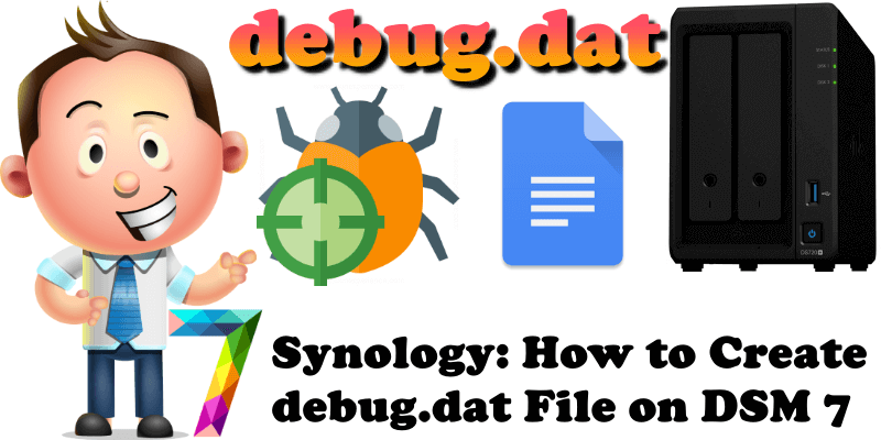 Synology How to Create debug.dat File on DSM 7