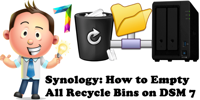 Synology How to Empty All Recycle Bins on DSM 7
