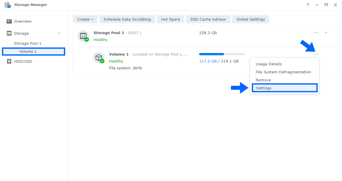 1 Disable Record File Access Time Synology DSM 7