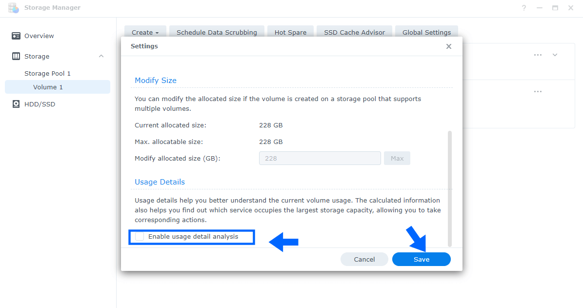 3 Disable Record File Access Time Synology DSM 7