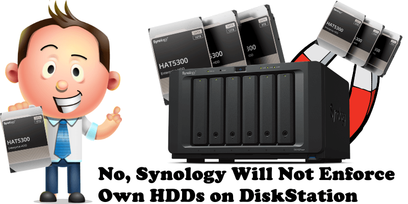 No, Synology Will Not Enforce Own HDDs on DiskStation
