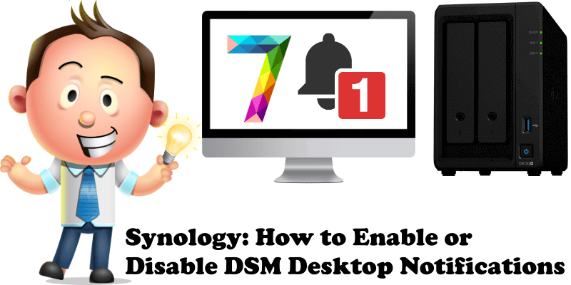Synology How to Enable or Disable DSM Desktop Notifications