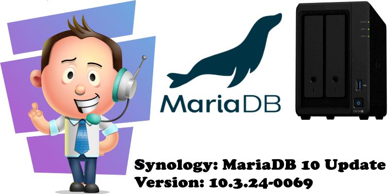 Synology MariaDB 10 Update Version 10.3.24-0069