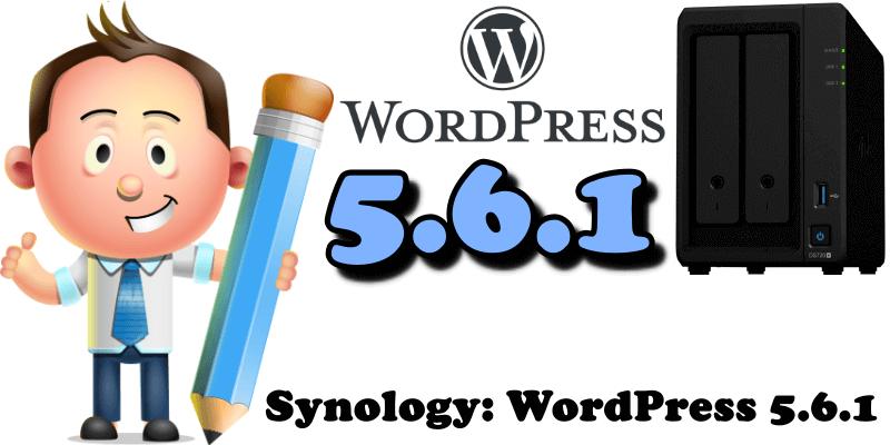 Synology WordPress 5.6.1