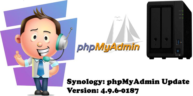Synology phpMyAdmin Update Version 4.9.6-0187