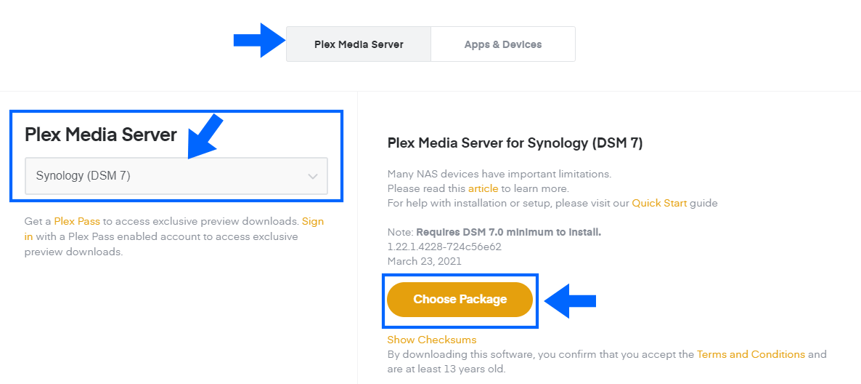 1 Plex Media Server DSM 7