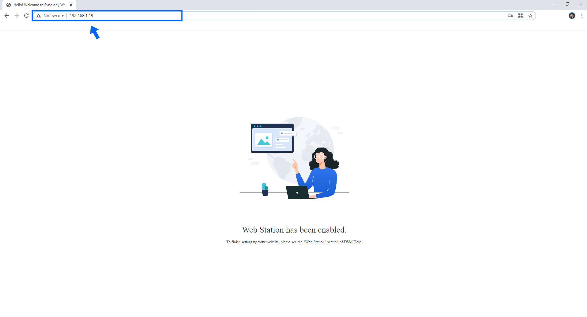 1 Synology Web Station has been enabled.